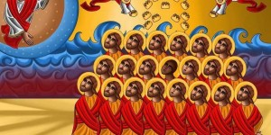 Icon of the 21 Christian Martyrs killed by ISIS in Libya by Antoun Rezk (Photo credit: Antoun (Tony) Rezk)