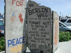 Section of Berlin Wall now in Portland, Maine (Photo credit: Faith J. H. McDonnell)