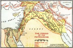 Journey of the Patriarchs (Photo Credit: The Littlefield O.T. Historical Maps, Wm. Walter Smith)