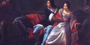 Clemente Alberi (Bologna, 1803-1864): Paolo e Francesca da Rimini sorpresi da Gianciotto, 1828. Rimini, Musei Civici